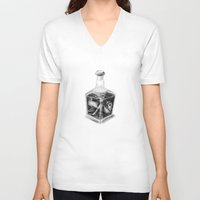 drink V-neck T-shirts featuring Drink me by Lou Ducroq