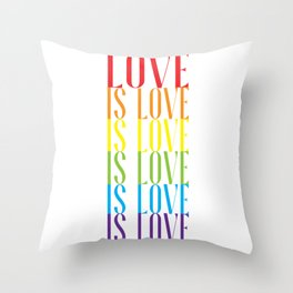 LGBT PRIDE MONTH PARADE graphic - LOVE IS LOVE design Throw Pillow
