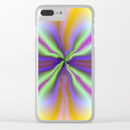 Psychedelic Twirl Clear iPhone Case