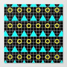 Retro Minimalistic Art Pattern Canvas Print