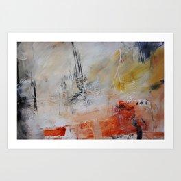 White painting print  Art Print