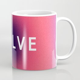 Evolve Typography in Mindfulness Window Coffee Mug