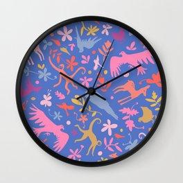 Frid Menagerie in Azul Wall Clock