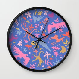 Frid Menagerie in Azul Wall Clock