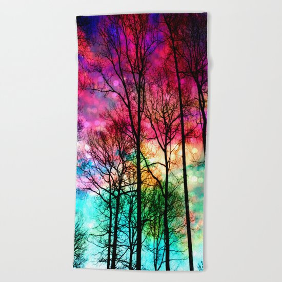 Colorful sky Beach Towel