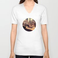 central park V-neck T-shirts featuring Bridge in Central Park by Ambers Vintage Find