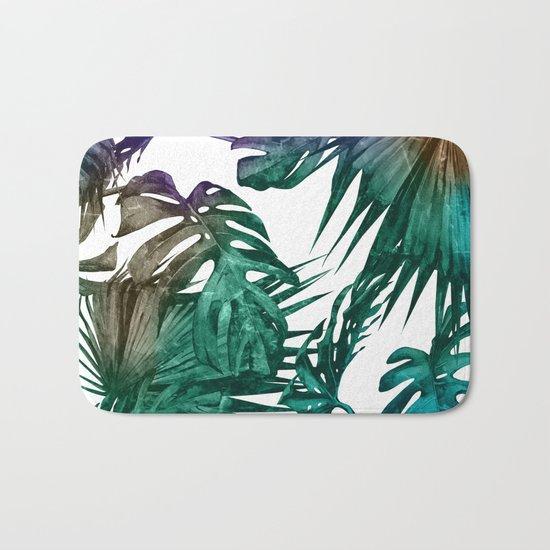 Tropics Tropical Jungle Island Pattern Bath Mat