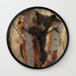 Black Bear Cub - Curious Cub II Wall Clock