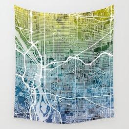 Portland Oregon City Map Wall Tapestry