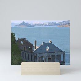 Digital Landscape - Alcatraz  Mini Art Print