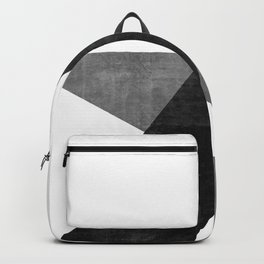 Ambitious No. 2 | Abstract in Blacks + Grays Backpack