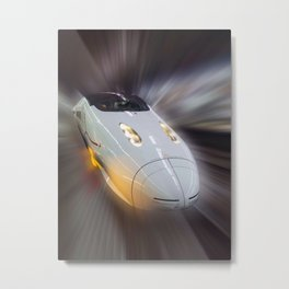 The Bullet Train Tokyo Metal Print