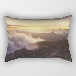 Sunset over the clouds Rectangular Pillow