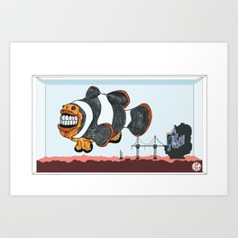 Death Clown Tanked Art Print