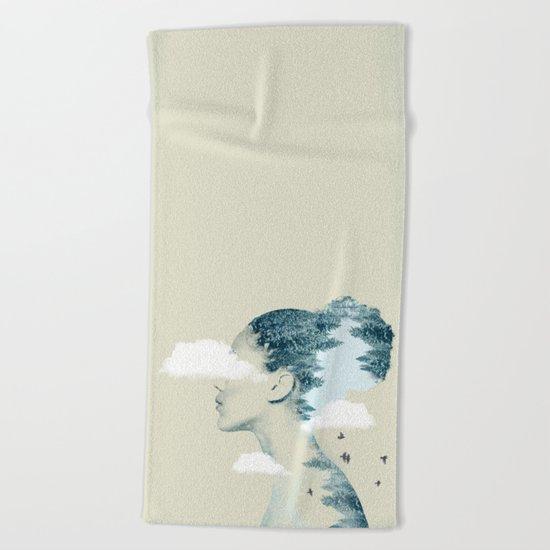 Thinking Green Beach Towel
