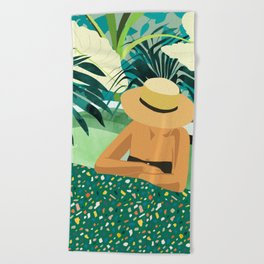 Chill #illustration #travel Beach Towel