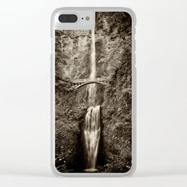 Waterfalls-B&W-Sepia Clear iPhone Case