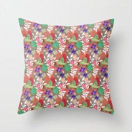 Guacamayas (Macaws) - (red.peach.green) Throw Pillow