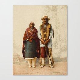 Native American Couple Canvas Print