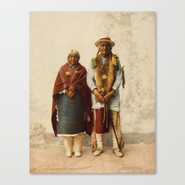 Native American Couple Canvas Print