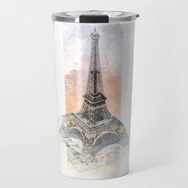 Paris Eiffel Tower - axonometric Travel Mug