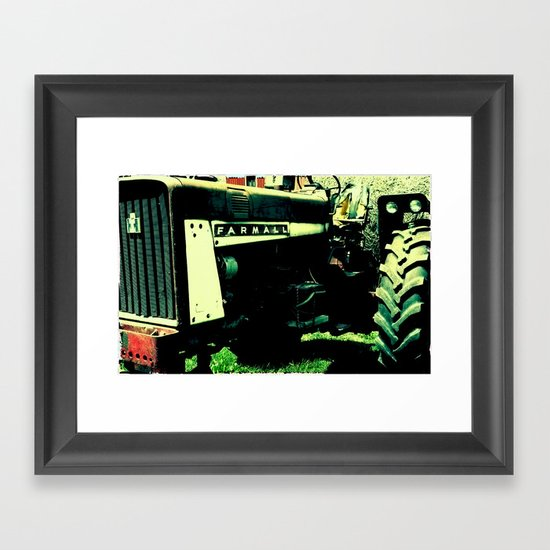 Tractor Time Framed Art Print