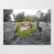 Empty Jeep Canvas Print