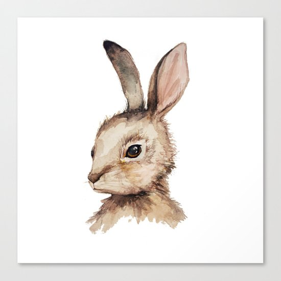 Pensive Easter Bunny  Canvas Print
