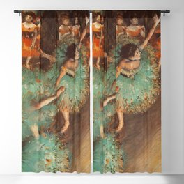 The Green Dancer 1879 By Edgar Degas | Reproduction | Famous French Painter Blackout Curtain