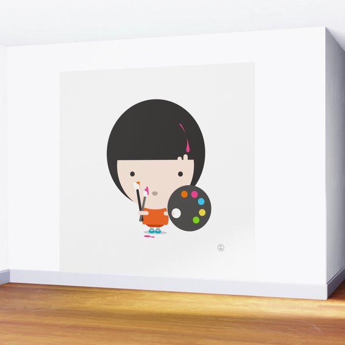 Little Artist Wall Mural