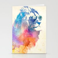 jazzberry blue Stationery Cards featuring Sunny Leo   by Robert Farkas