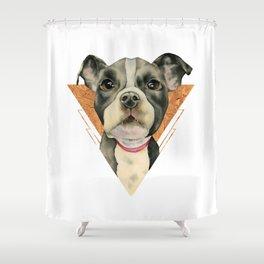 Puppy Eyes 5 Shower Curtain