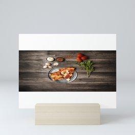 Pizza Slices (45) Mini Art Print