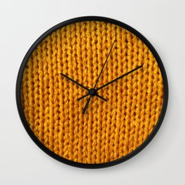 Mustard Yellow Knit Wall Clock