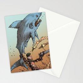 LOVE ME LIKE A PSYCHO ROBOT - USING A HUGE SHARK Stationery Cards