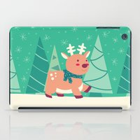 reindeer iPad Cases featuring Reindeer by Claire Lordon