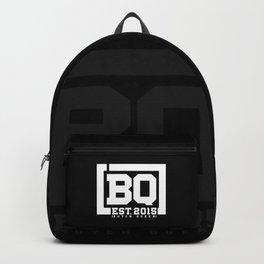 New BQ Initials-white Backpack