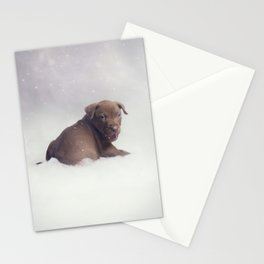 Snow Pup Stationery Cards