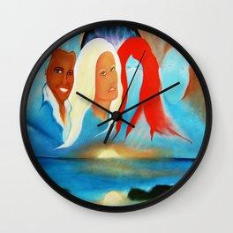 AWAITING MY SEASON Wall Clock