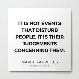 3   | Marcus Aurelius Quotes | 200107 Metal Print
