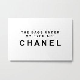 Designer eye bags Metal Print