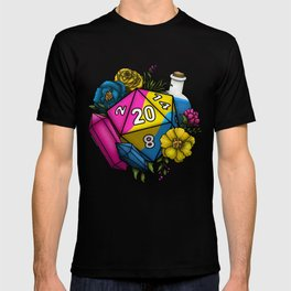 Pride Pansexual D20 Tabletop RPG Gaming Dice T-shirt