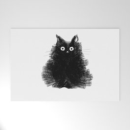 Duster - Black Cat Drawing Welcome Mat