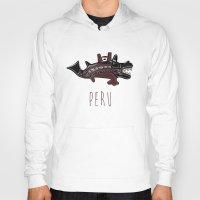 peru Hoodies featuring Ancient Peru by Franco Olivera