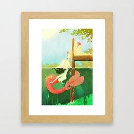 Dock Kiss Framed Art Print