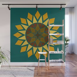 Native Sunflower Wall Mural