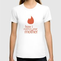 how i met your mother T-shirts featuring how i matched your mother by Aldo Cervantes Saldaña