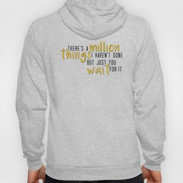 there's a million things i haven't done Hoody