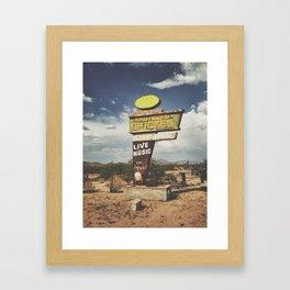 Broasted Chicken Framed Art Print