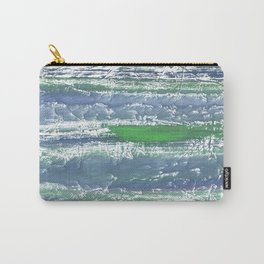 Green Blue clouded wash drawing design Carry-All Pouch